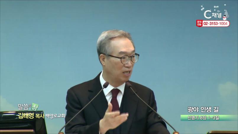 백양로교회 김태영 목사  광야 인생 길